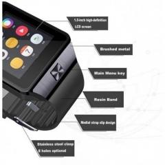 Bluetooth Smart Watch Smartwatch DZ09 Android Phone Big Great Smart black