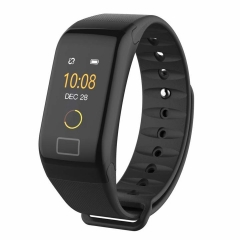 2EST Store Smart Bracelet   F1 Plus Watches Blood Pressure Podometre  Bracelet Smart Watch black