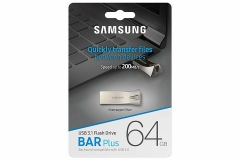 Samsung BAR Plus 64GB - 200MB/s USB 3.1 Flash Drive Champagne Silver Titan grey samsung 64g high speed