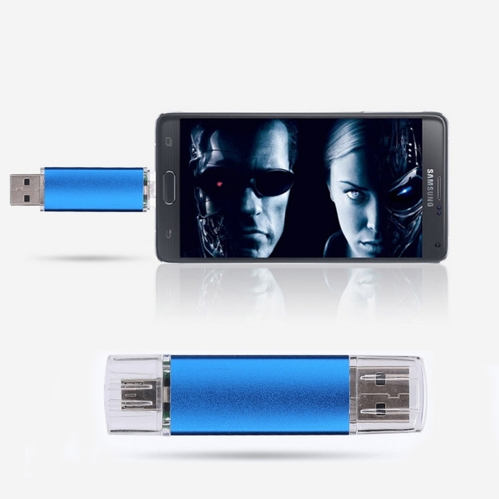 2 In 1 32G  Micro  USB 2.0 Flash Card High Speed Pen Drive Phone Expend Memory Card BLUE OR Leaving a message with color otg 32g high speed