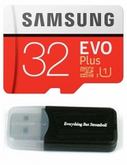 Samsung Galaxy S9 Memory Card 32GB Micro SDHC EVO Plus Class 10 with a card reader as shown samsung 32gb 95m/s