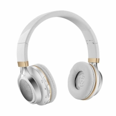 2EST Bluetooth Headphones On Ear Foldable Wireless Headphones with FM Radio, Microphone silver
