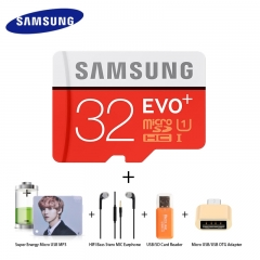 Pack Of 5 SAMSUNG 32 GB Memory Card /Energy MP3/HIFI Earphone/Card Reader/Micro USB OTG Adapter as shown samsung 32g 10m/s
