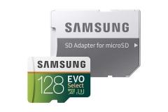 Samsung 128GB 100MB/s (U3) MicroSD EVO Select Memory Card with Adapter (MB-ME128GA/AM) as shown samsung 128g 100M/S