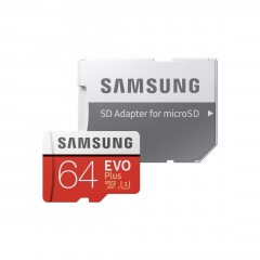 Samsung 64GB MicroSDXC EVO Plus Memory Card w/ Adapter as shown samsung 64g 100m/s
