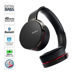 Extra Bass Bluetooth Headphone subwoofer headset black