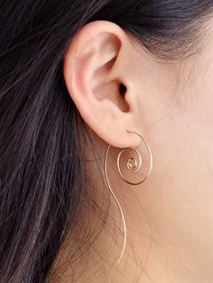 Metal Spiral Hoop Earrings