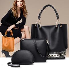 LARAINE Brand PU Leather Handbag for Women Shoulder Bag black one size