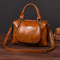 LARAINE Brand Imitation Cowhide Handbags for Ladies Single Shoulder Bags PU Leather brown one size