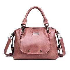 LARAINE Brand Imitation Cowhide Handbags for Ladies Single Shoulder Bags PU Leather pink one size