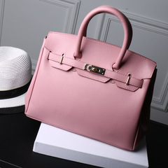 LARAINE High Quality Birkin Handbags for ladies PU Leather pink one size 30CM one size normal