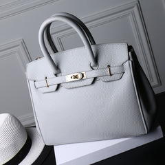 LARAINE High Quality Birkin Handbags for ladies PU Leather gray one size 30CM one size normal