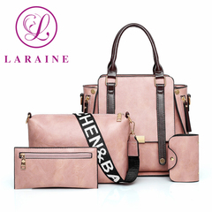 LARAINE 4Pcs/Set High-quality Handbags for Women Commuter  Bag pink one size 30cm one size normal