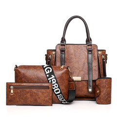 LARAINE 4Pcs/Set High-quality Handbags for Women Commuter  Bag brown one size 30cm one size normal