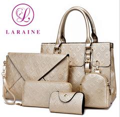 LARAINE 5Pcs/Set Handbags for Ladies golden one size 30cm one size normal