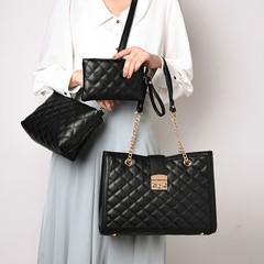 LARAINE New  Vintage women's bags fashionable linger handbags single-shoulder bag chain bag one size black