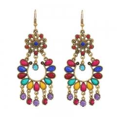 Flower Tassel Earrings Lady Jewellery Bohemian Party Gift colorful free size