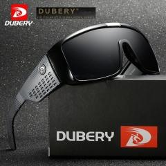 UV400 Wide Leg Sunglasses Men Sports UV Protective Goggles For Men Fashion Luxury Mirror Shades 01 black / black one size
