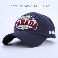 Letter Men Baseball Caps Dad Casquette Snap Back Hats Fashion Sport Hat Letter Washed Cotton Cap