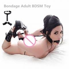 Sex Toy Self Bondage Nylon Handcuffs Restraint Set Adult BDSM Toy SM Game black one size