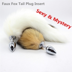 Colors Faux Fox Tail Adult Sex Toy Plug Insert Toys Sex Product black one size