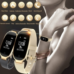 Bluetooth Waterproof S3 Smart Watch Fashion Women Heart Rate Monitor Smartwatch For Android IOS black