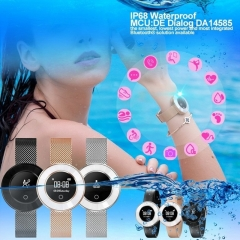 X6 Smart Watch Bracelet Female Heart Rate Wristband IP68 Waterproof Smart Watch Steel Strap black