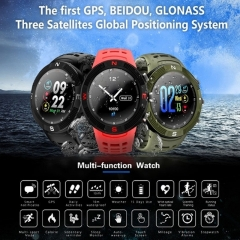 F18 smart watch HD color screen heart rate monitoring IP68 waterproof GPS Bluetooth smart watch black