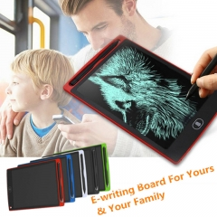 Smart 8.5 / 12 inch Black Drawing Writing Tablet Electronic Paperless LCD E-Writing Message Board black 8.5