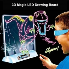 Funny 3D Drawing Board Children's Magic LED Flashing Drawing Board Kids' Education Learning Draw Shark Series one size