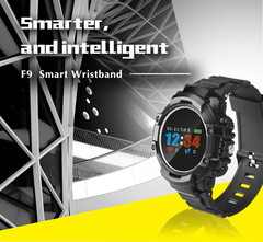 Bluetooth Waterproof F9 Smart Watch Heart Rate Monitor Smartwatch Sport Watch For Android IOS black
