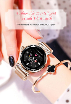 Physiological Period Prediction Bracelet Intelligent Female Wristwatch Heart Rate Monitor Smartwatch rose gold