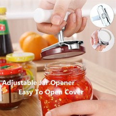 Adjustable Stainless Steel Jar Opener Tool - Powerful Lid Quick Opening for Cooking And Everyday Use as pic one size