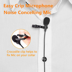 Popular Microphone Mic Sound Recording Noise Cancelling Mic With Easy Metal Clip black one size one size 60