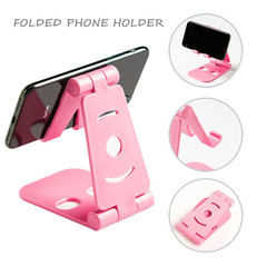 Folded Phone Holder Universal Mobile Phone Stand Support Mount Desktop Bracket Mobile blue one size one size 60