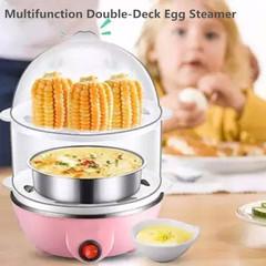 Two-Tier Household Egg Steamer Multifunction Double-Deck Egg Steamer Cooker For Kitchen Tops random one size