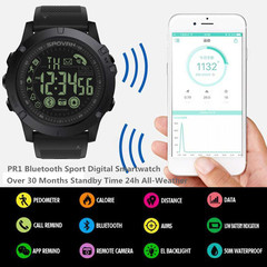 New PR1 Bluetooth Sport Digital Smartwatch Long Standby Time 24h All-Weather Monitoring Smart Watch red