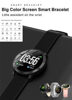 Heart Rate Blood Pressure Sport Monitoring Multifunctional Smart Watch  Women Bracelet Smartwatch black