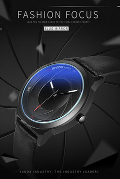 New Fashion Optical Phantom Fashion Men's Watches Quartz Watch Men Watches Watched Fashion Watch black