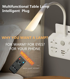 Wireless Multifunctional Table Lamp Conversion Plug Expansion Phone Charging USB Converter as pic as pic 2500(W)