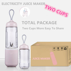 2 Cups A Set Electricity 4 Cutter Head Blender Whisk Juicer Food Mixer Small Juice Extractor pink one size