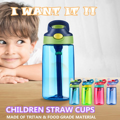 450 ml Safety Material Infant Learning to Drink Cup Baby Straw Cup Children's Travelling Kettle Cup red one size