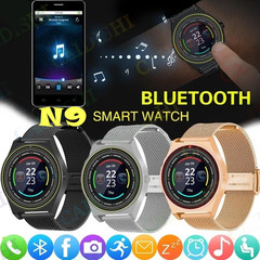 New N9 Smart Watch Clock With Sim TF Card Bluetooth Men Women Business Smartwatch Smartphones black