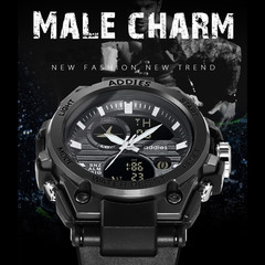 Male Charm Luminous Indication Double Display Sport Watches Sport Watch Military Business Watch black