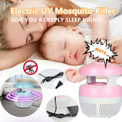Electric UV Mosquito Killer Bug Zapper Fly Flying Insets Lamp Bug Insect Light Led Night Lamp pink one size