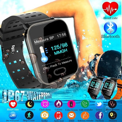 A6 Smart Watch Heart Rate Monitor Sport Fitness Tracker Sleep Monitor Waterproof Sport Watch Band blue