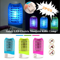 Hot Selling 2 PCS Safety LED Electric Mosquito Killer Lamp Fly Zapper Insect Trap Light Night Lamp random one size