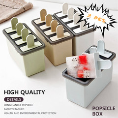 2 PCS Homemade Ice Lolly Ice Cream Ice Combination Mold Yogurt Popsicle Box Juice Maker Mold Icebox green one size