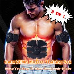 3 In 1 Smart EMS Muscle Training Gear Fitness Body Shape Trainer Abdomen Arm Muscle Training Belt