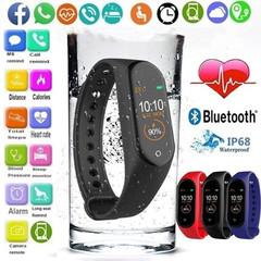 M4 Smart Watch Heart Rate Fitness Tracker Smart Wristband Step Counter Calorie Intelligent Bracelet black
